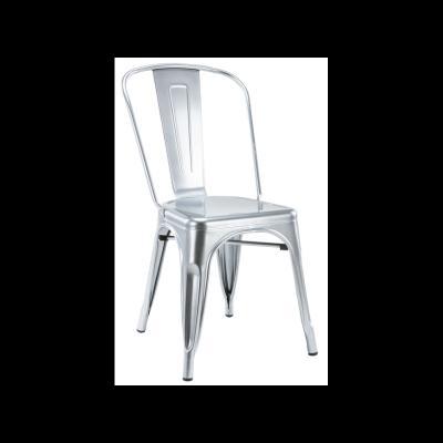 Silla Industrial Tol Acero Brillo Silver Edition - Imagen 1