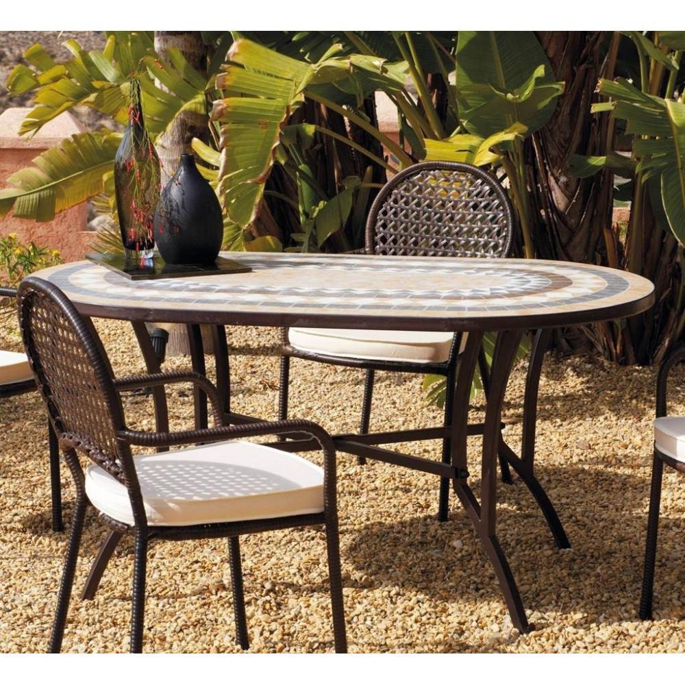 Conjunto Oasis Mosaico Mesa + 6 Sillas + Cojines - Imagen 1
