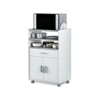 BASIC Mueble microondas 1c+2p Blanco Artik-Cemento - Imagen 1