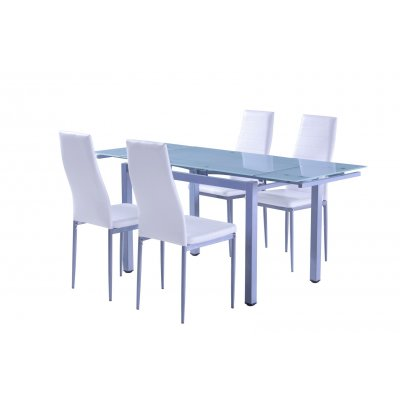 Mesa Comedor Extensible Cristal Modelo Ucero - Imagen 1