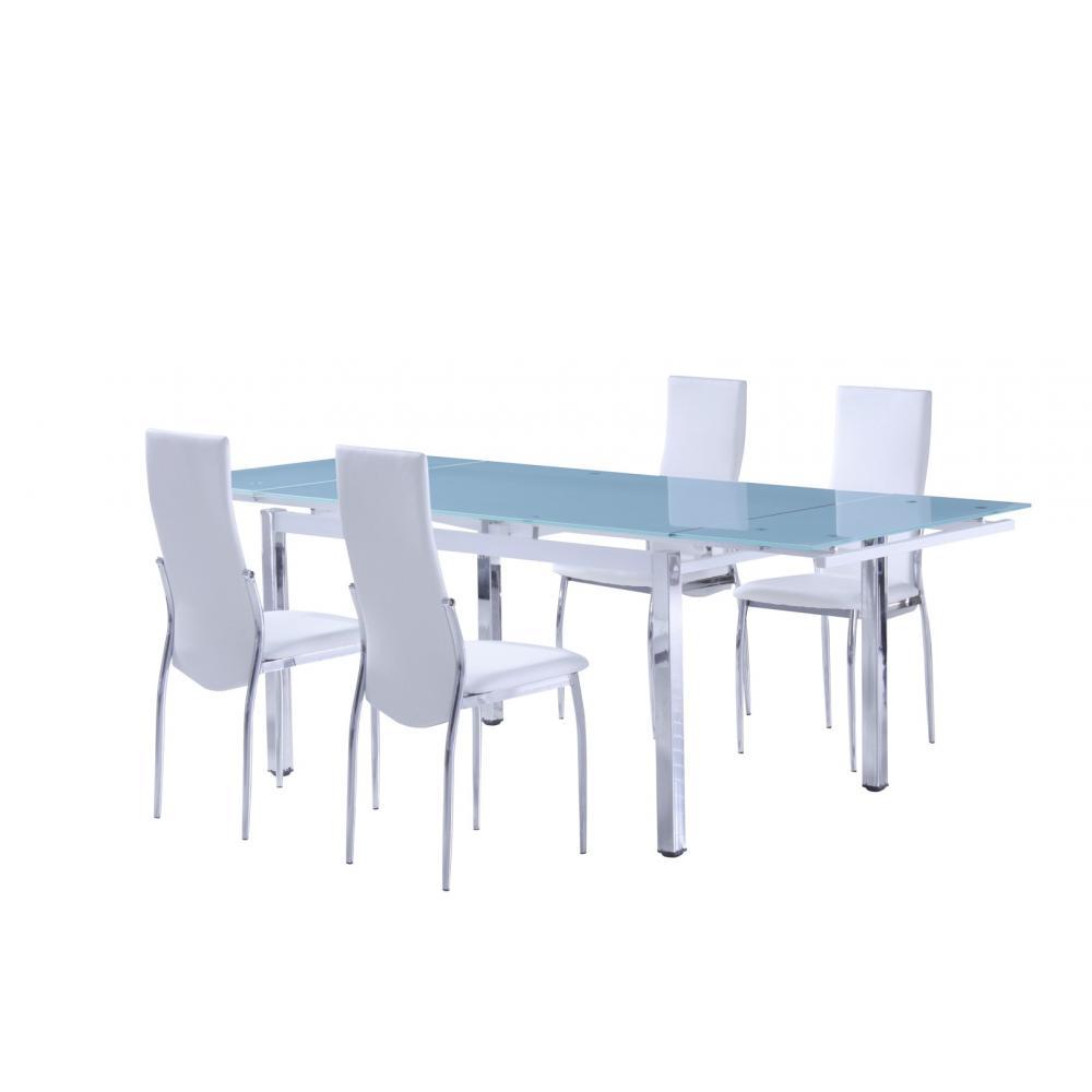 Mesa Comedor Extensible Modelo Duero Estructura Cromada - Imagen 1