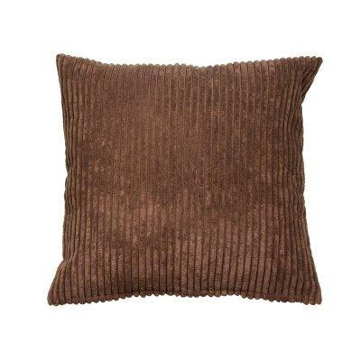Cojín de pana color marrón - Imagen 1