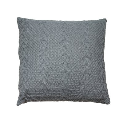 Cojín de punto color gris - Imagen 1