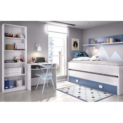 Composicion Juvenil Modelo Ocean color Blanco Artic-azul Aguamarina - Imagen 1