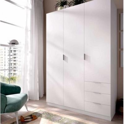 Armario 3 puertas 3 cajones modelo ESSEN de 184 x 121 x 52 en color Blanco. - Imagen 1
