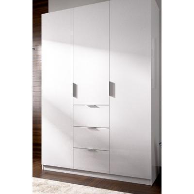 Armario 3 puertas 3 cont  modelo ESSEN de 204 x 135 x 52 en color Blanco. - Imagen 1