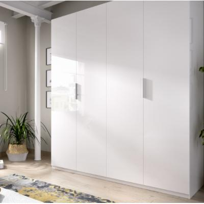 Armario 4 puertas modelo ESSEN de 204 x 180 x 52 en color Blanco Brillo. - Imagen 1