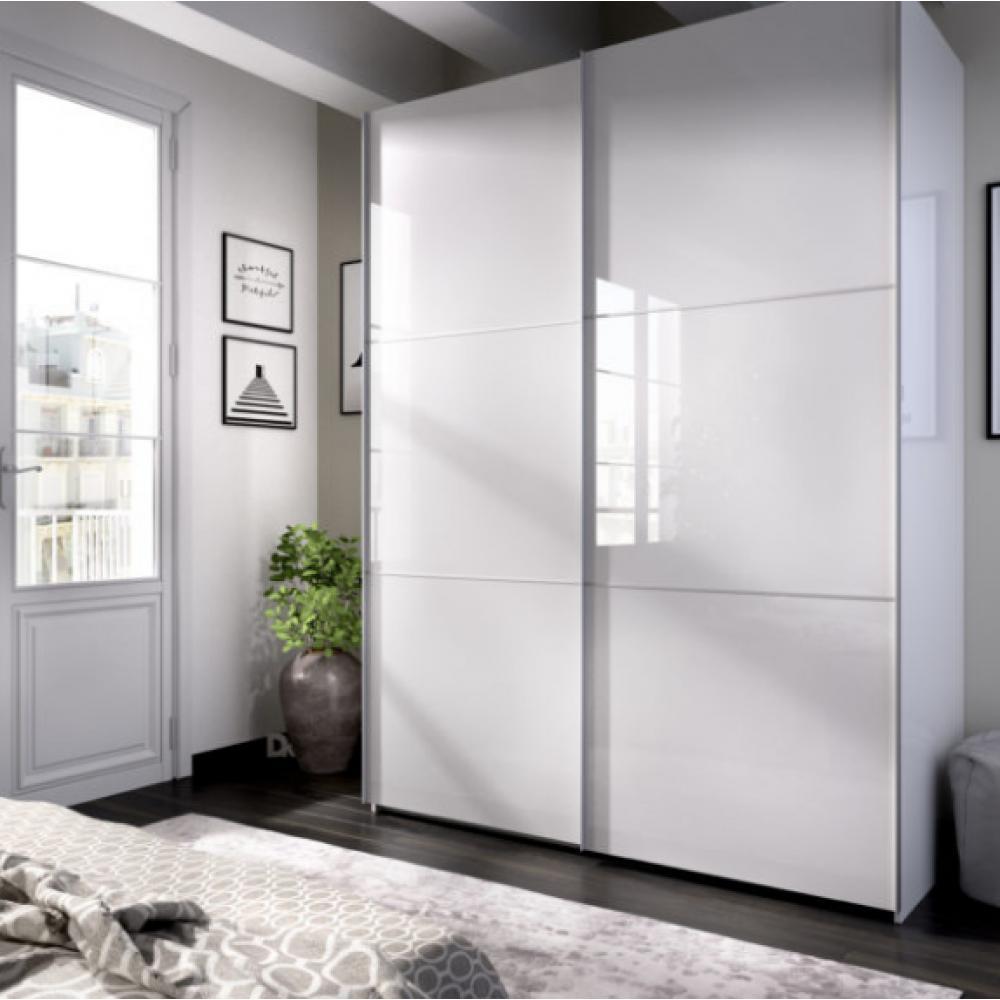 Armario 2 puertas corredera 150 modelo SLIDE de 204 x 150 x 65 en color Blanco Brillo - Imagen 1