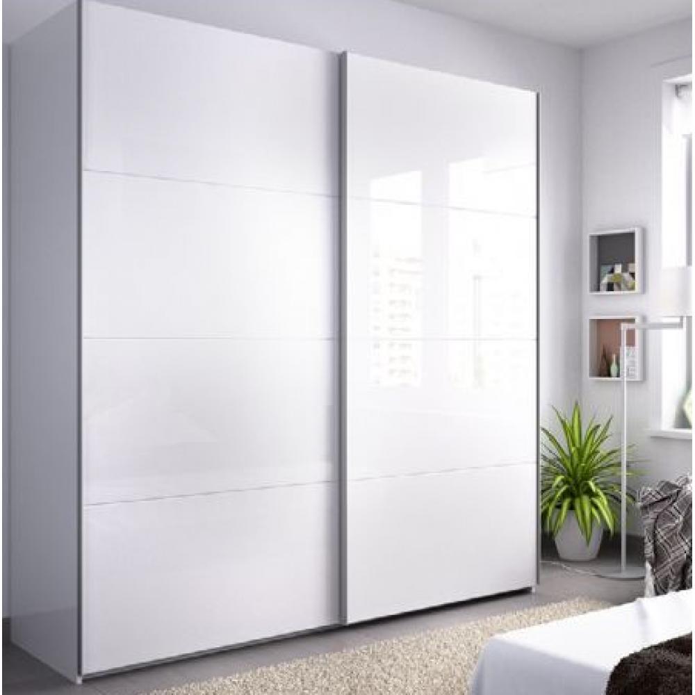 Armario 2 puertas corredera de 180 cm modelo SLIDE de 204 x 180 x 65 en color Blanco Brillo - Imagen 1