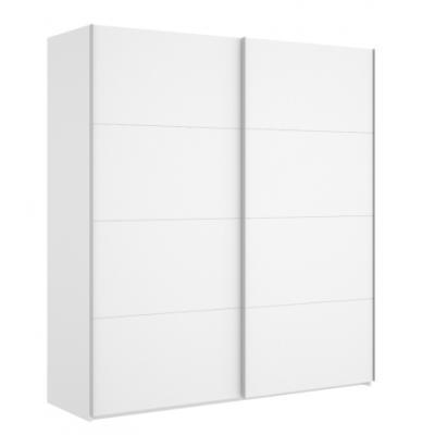 Armario 2 puertas corredera de 180 cm modelo SLIDE de 204 x 180 x 65 en color Blanco Brillo - Imagen 3
