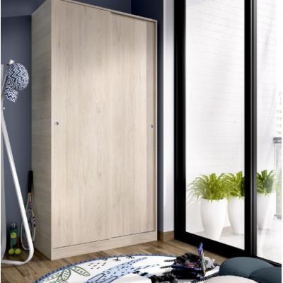 Armario 2 puertas corredera plus 100 modelo SLIDE de 204 x 100 x 50 en color Natural - Imagen 1