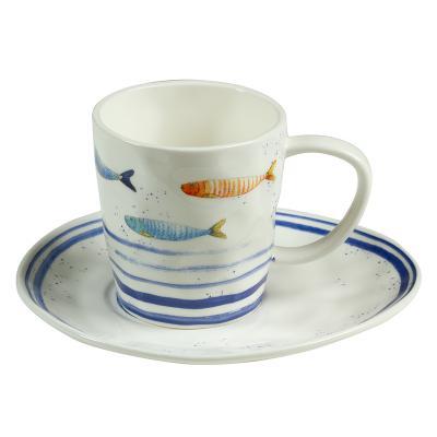 Taza y plato bord mer - Imagen 1