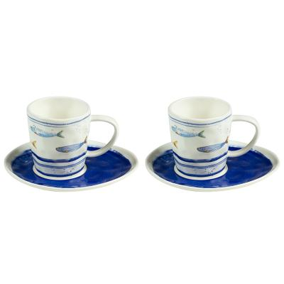 Set 2 tazas plato bord mer - Imagen 1
