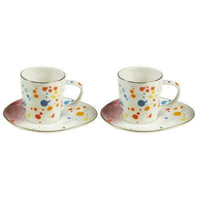 Set 2 tazas plato colour - Imagen 1