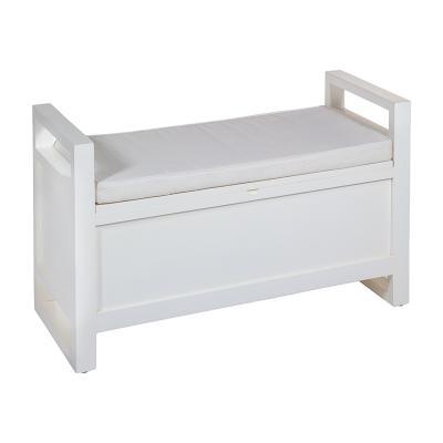 Banqueta baúl blanca - Imagen 1