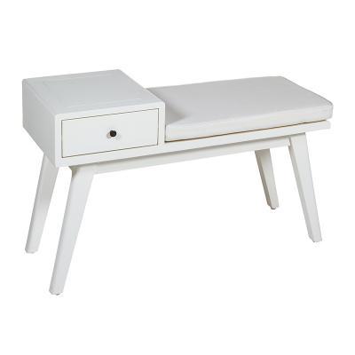 Banco 1 cajón Jenki blanco - Imagen 1