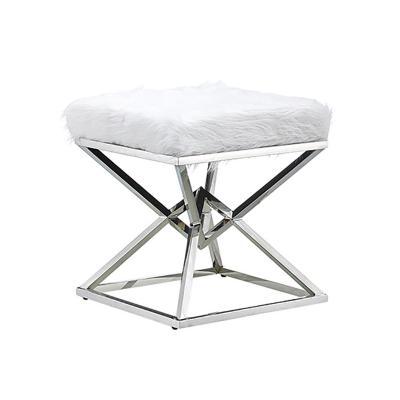 Banqueta blanca plata - Imagen 1