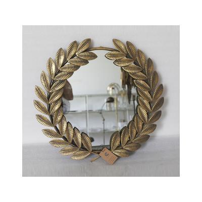 Espejo dorado hojas - Imagen 1