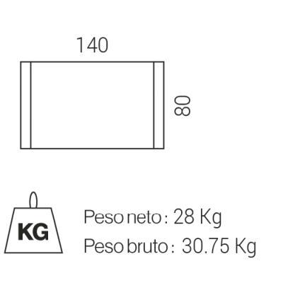 MESA COMEDOR FIJA MODELO NATURAL 140X80 ROBLE NORDISH-NEGRO - Imagen 7