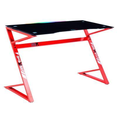 Mesa Gamer XT03 LED RGB Color Rojo / Carbono 120x60 - Imagen 1