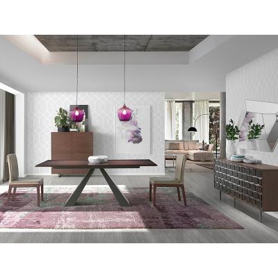 Mesa comedor Dm Roble-Hierro Color Nogal 200x100 - Imagen 4