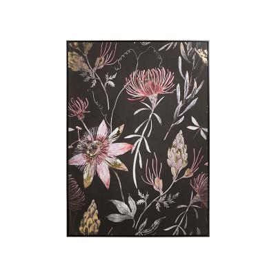 Cuadro óleo flores - Imagen 1