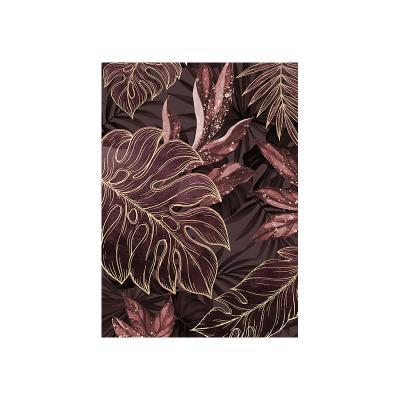 Cuadro hojas oscuras - Imagen 1