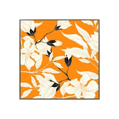 Cuadro flores naranja - Imagen 1