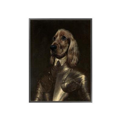 Cuadro perro caballero - Imagen 1