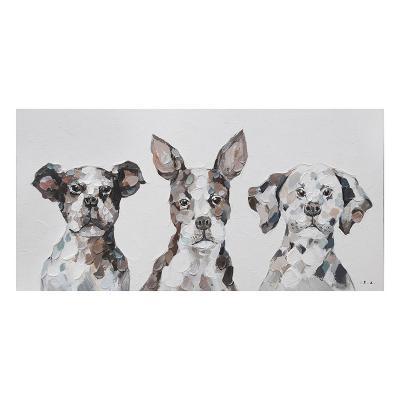 Cuadro óleo perros - Imagen 1