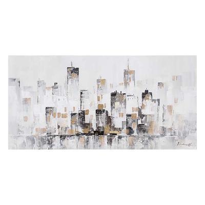 Cuadro óleo ciudad - Imagen 1