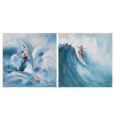 Set 2 cuadros óleo surf - Imagen 1