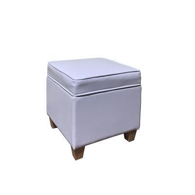 Puf almacenaje blanco - Imagen 1