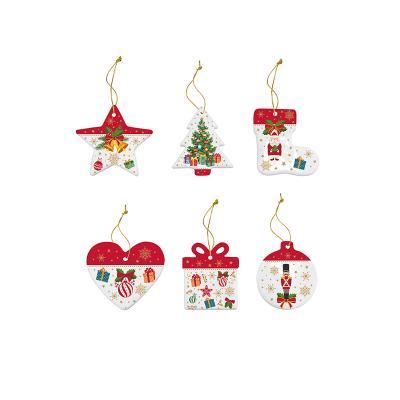 6 adornos Navidad árbol - Imagen 1
