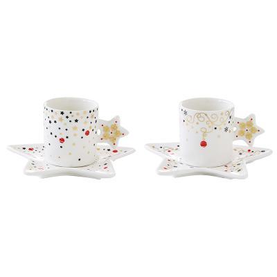 Set 2 tazas+plato Xmas - Imagen 1