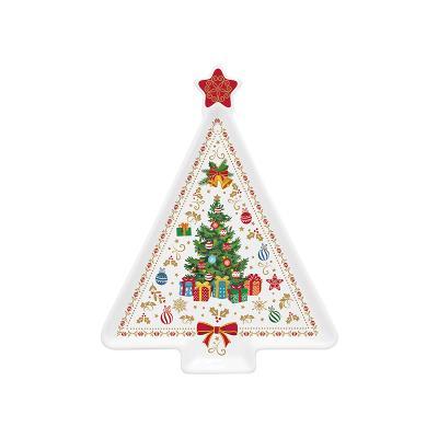 Plato árbol Navidad - Imagen 1
