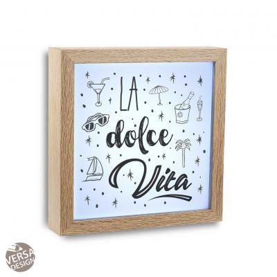CUADRO LUZ LA DOLCE VITA - Imagen 1