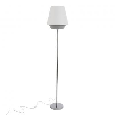 LAMPARA DE SUELO RONDO BLANCA - Imagen 1