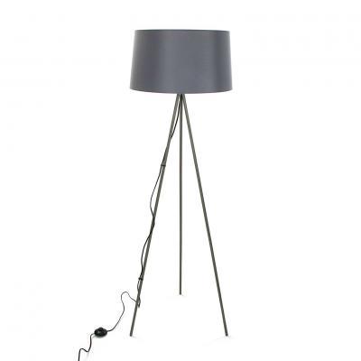 LAMPARA DE PIE GRIS - Imagen 1