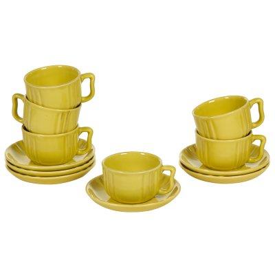 Juego de 6 tazas de loza mosta - Imagen 1