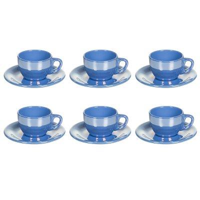 J/6 taza té c/p.lustre azul - Imagen 1