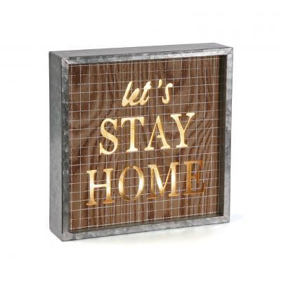 CAJA CON LUZ STAY HOME - Imagen 1