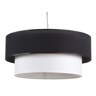 Lámpara Techo Doble Plantalla Negro/Blanco de 45 cm - Imagen 1