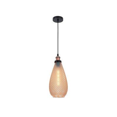 Lámpara techo dorada - Imagen 1