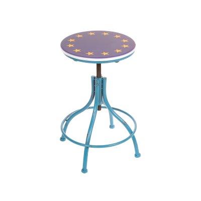 Taburete metálico azul - Imagen 1