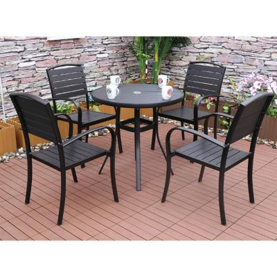 Mesa jardín + 4 sillas Lof - Imagen 1