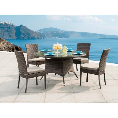 Mesa redonda + 4 sillas - Imagen 1