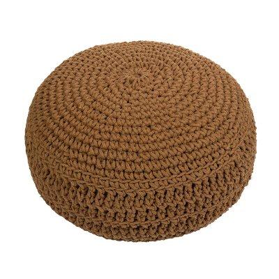 Puff trenzado marrón - Imagen 1