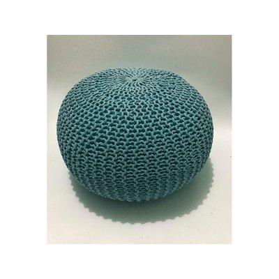 Puff trenzado azul - Imagen 1