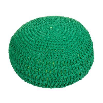 Puff trenzado verde - Imagen 1